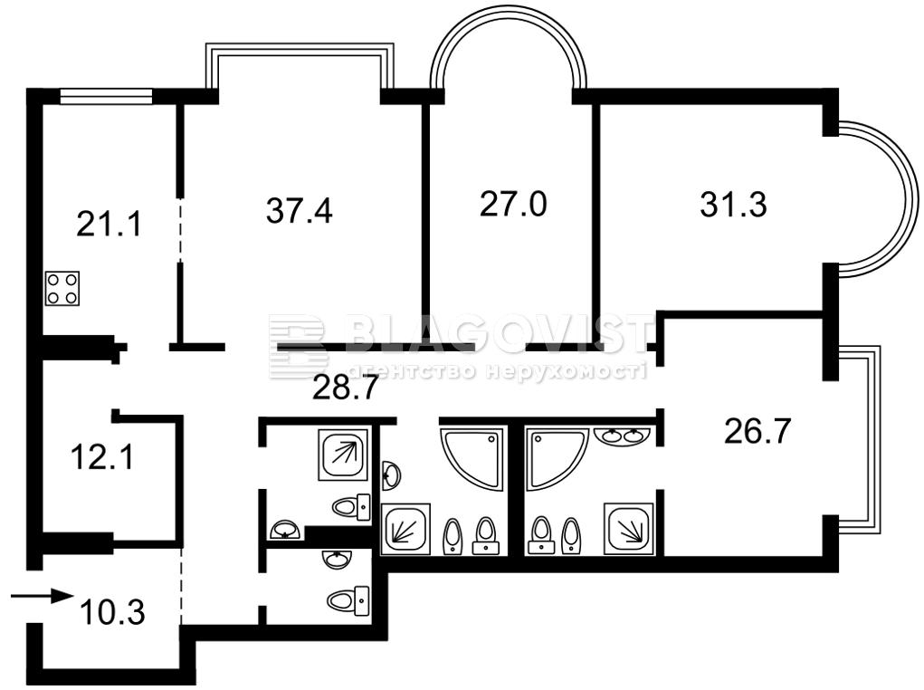 Квартира E-40466, Институтская, 18а, Киев - Фото 4