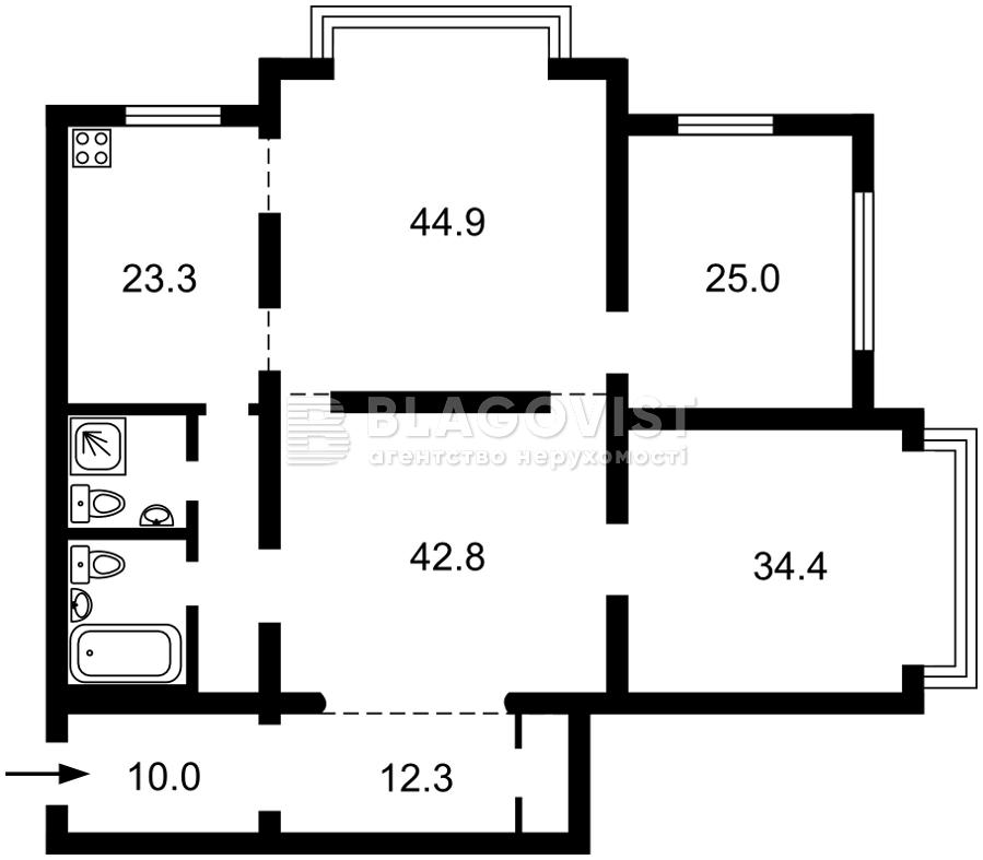 Квартира C-108737, Паторжинского, 14, Киев - Фото 6