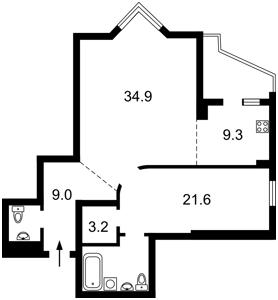 Квартира Коновальця Євгена (Щорса), 32г, Київ, R-37250 - Фото2