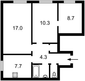 Квартира Щусева, 42, Киев, Z-739228 - Фото2