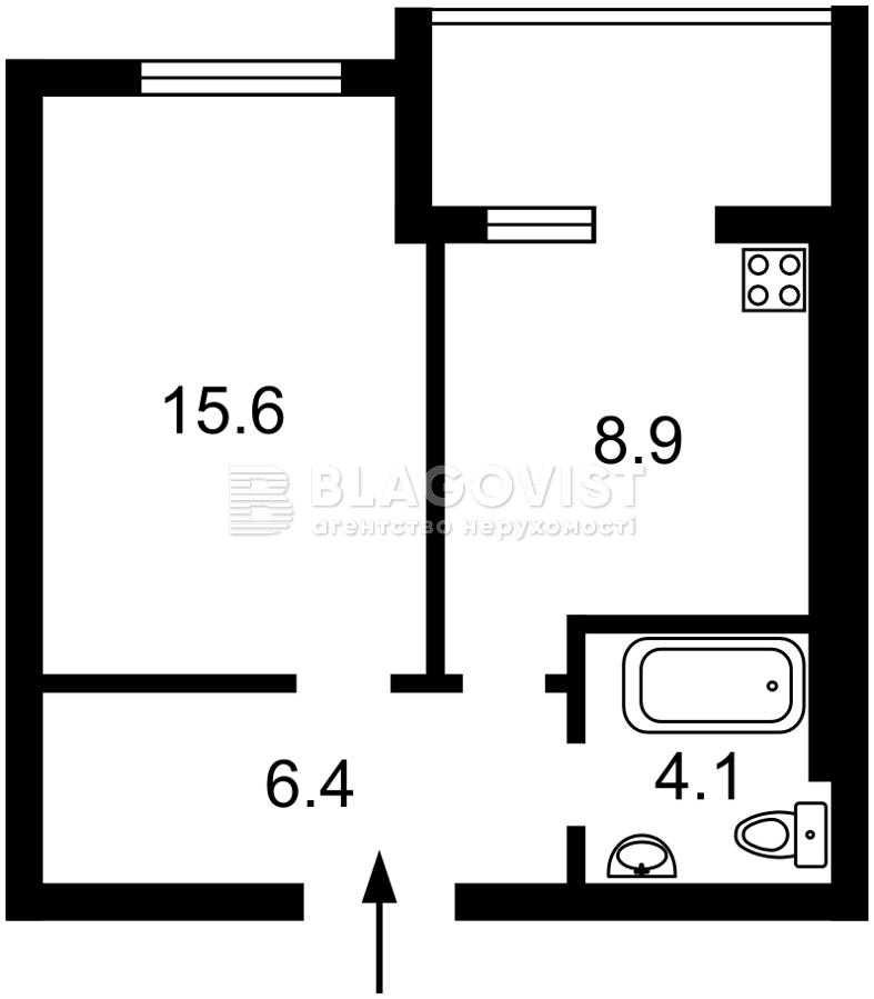 Квартира F-44484, Машиностроителей, 27, Вишневое (Киево-Святошинский) - Фото 3