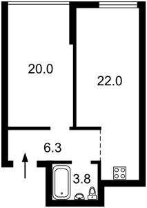 Квартира Заречная, 2 корпус 2, Киев, Z-742317 - Фото2