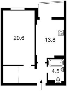 Квартира Маланюка Евгения (Сагайдака Степана), 101 корпус 29, Киев, R-35488 - Фото2