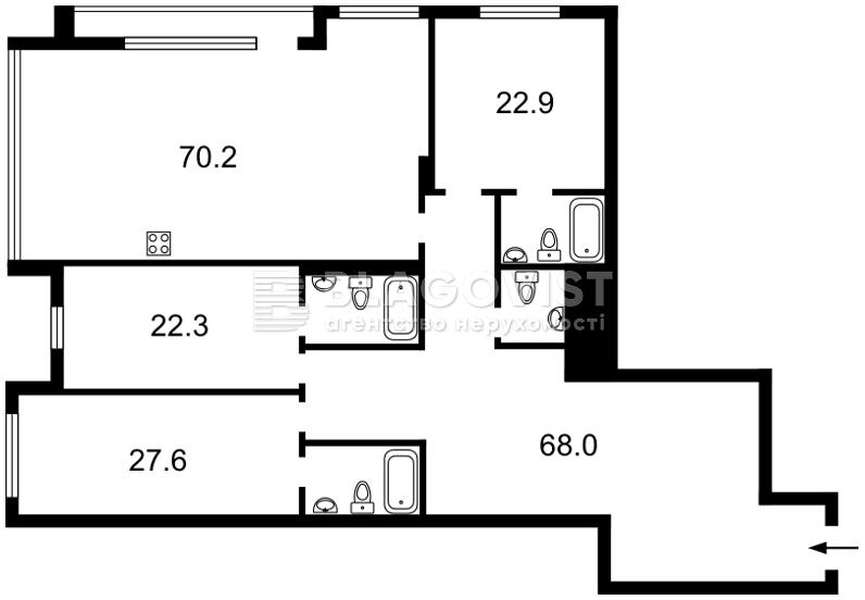 Квартира D-36916, Редутная, 67, Киев - Фото 7