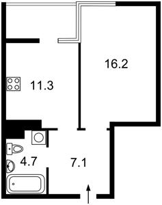 Квартира Большая Васильковская, 139 корпус 11, Киев, C-108168 - Фото2