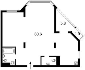 Квартира Болсуновская (Струтинского Сергея), 2, Киев, H-49296 - Фото2