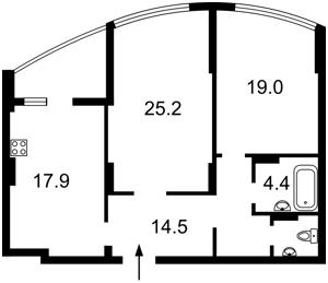 Квартира Коломыйский пер., 17/31а, Киев, R-37253 - Фото2
