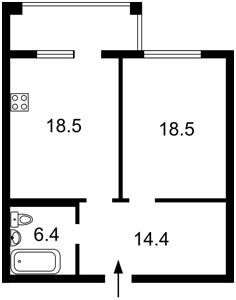 Квартира Бойчука Михаила (Киквидзе), 17, Киев, P-29364 - Фото2