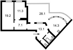 Квартира Бойчука Михаила (Киквидзе), 17, Киев, P-29362 - Фото2