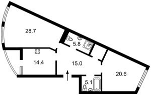 Квартира Бойчука Михаила (Киквидзе), 17, Киев, P-29313 - Фото2