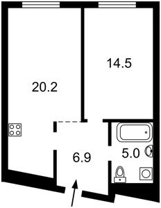 Квартира Причальная, 5 корпус 3, Киев, Z-748013 - Фото2