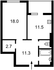 Квартира Балтийский пер., 3, Киев, Z-744135 - Фото2