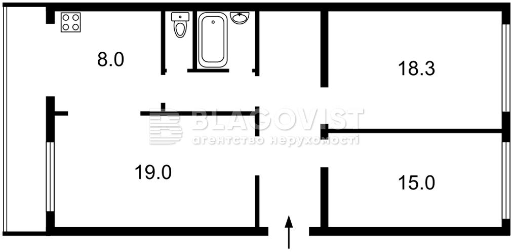 Квартира E-40657, Емельяновича-Павленко Михаила (Суворова), 19, Киев - Фото 5