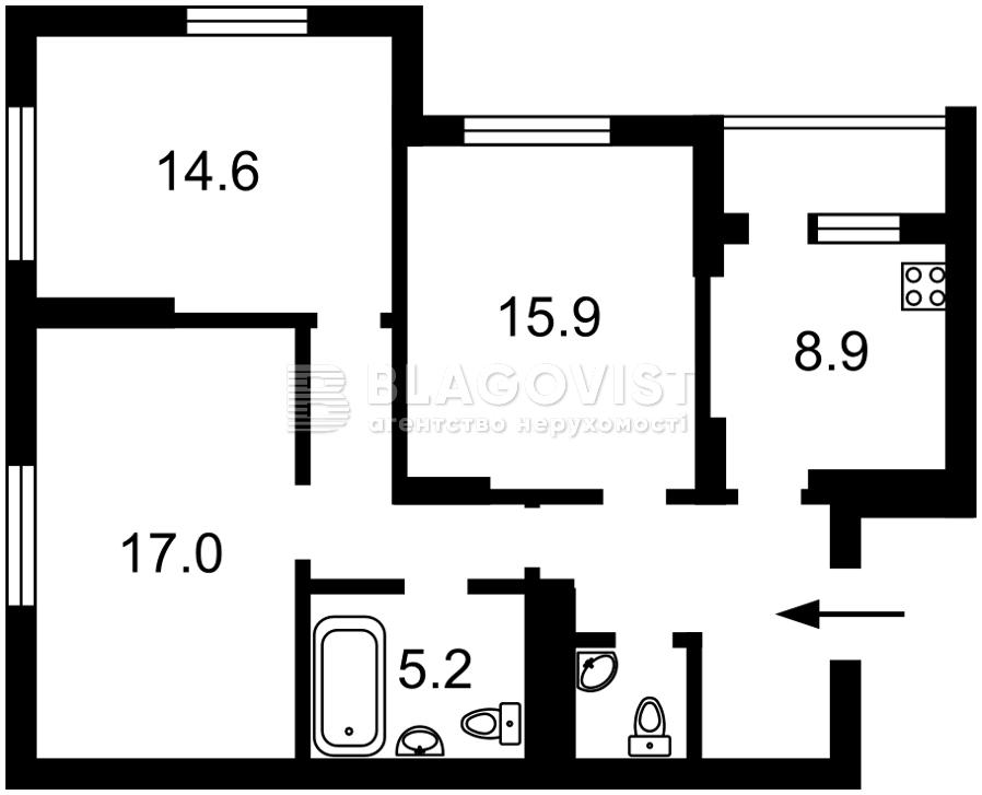 Квартира R-490, Хоткевича Гната (Красногвардейская), 8, Киев - Фото 4