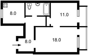 Квартира Большая Васильковская, 26б, Киев, Z-644265 - Фото2