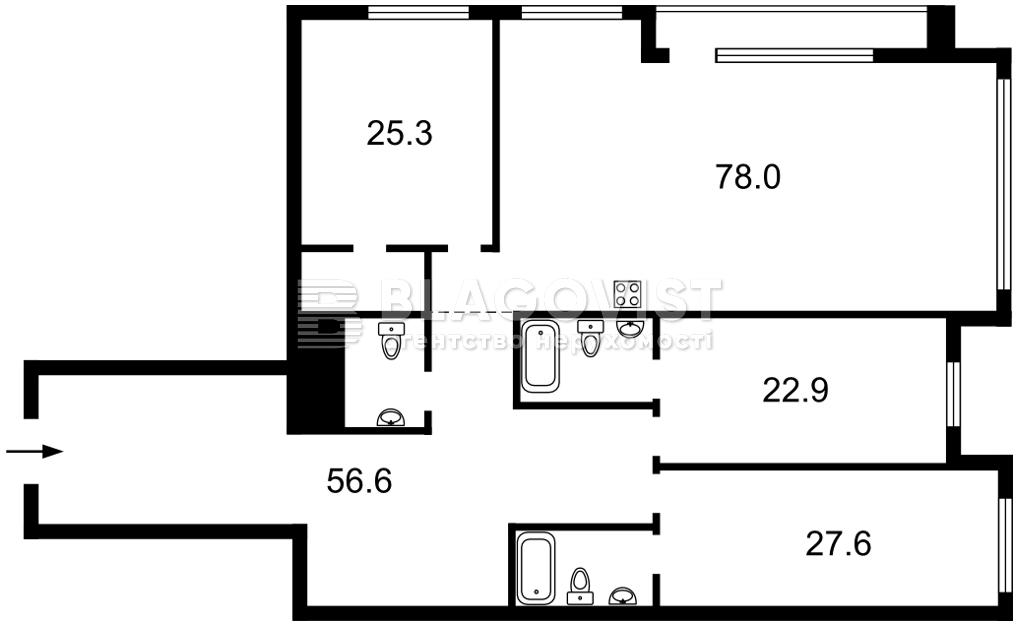 Квартира D-36923, Редутная, 67, Киев - Фото 7