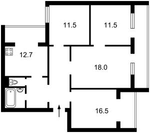 Квартира Приречная, 35, Киев, R-37240 - Фото2
