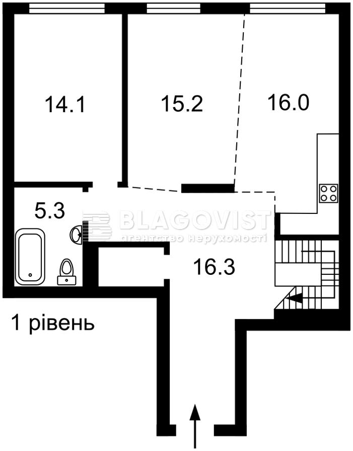 Квартира Z-748322, Правди просп., 13 корпус 3, Київ - Фото 2