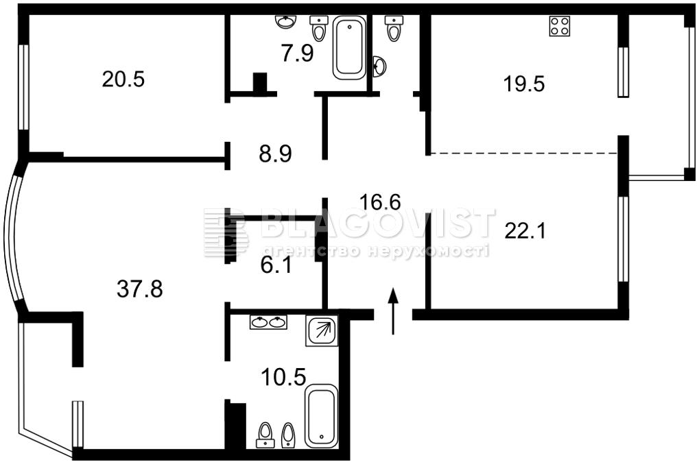 Квартира D-36887, Бойчука Михаила (Киквидзе), 17, Киев - Фото 6