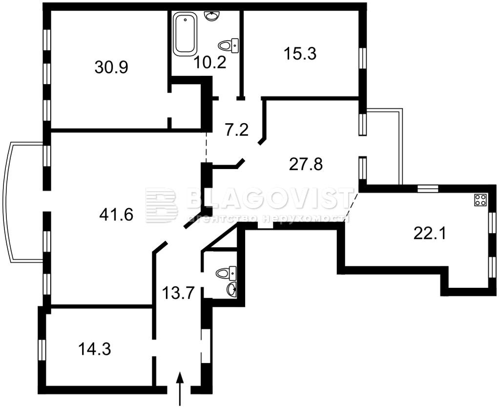 Квартира R-33188, Шота Руставели, 23, Киев - Фото 3