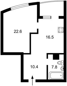Квартира Ушакова Николая, 1в, Киев, X-11601 - Фото2