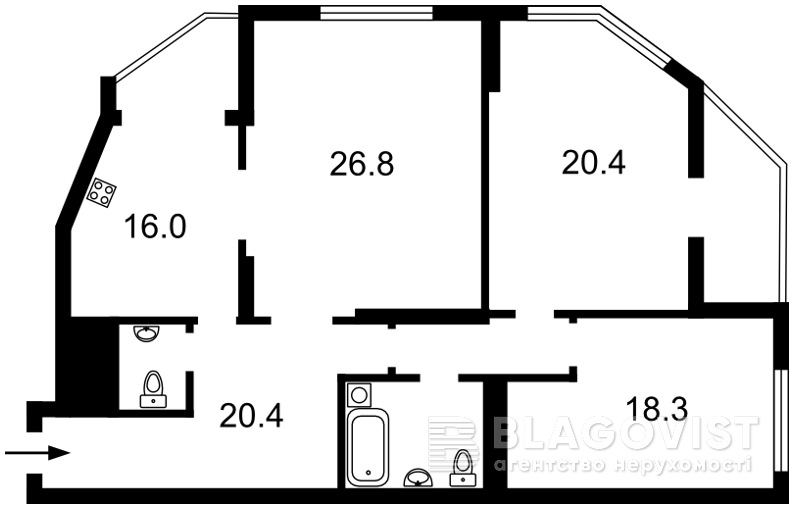 Квартира M-38821, Чавдар Єлизавети, 2, Київ - Фото 3