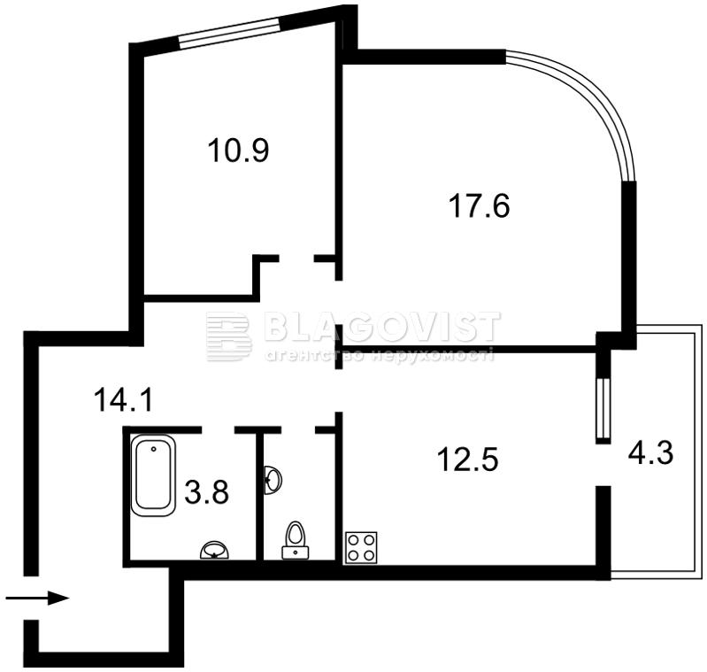 Квартира F-44607, Жулянская, 8 корпус 1, Киев - Фото 2