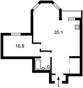 Квартира Амосова Николая, 2, Киев, Z-748603 - Фото2