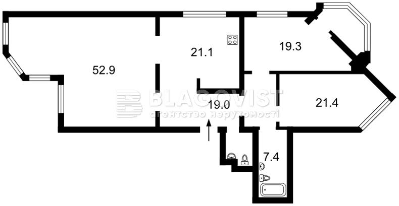 Квартира P-29386, Героїв Сталінграду просп., 24, Київ - Фото 6