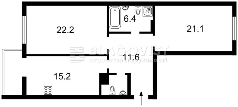 Квартира C-108837, Тютюнника Василия (Барбюса Анри), 51/1а, Киев - Фото 6