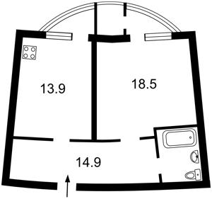 Квартира Урловская, 11/44, Киев, X-11115 - Фото2