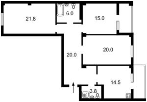 Квартира Будівельників, 30, Київ, Z-651144 - Фото2