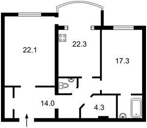 Квартира Героев Сталинграда просп., 10а, Киев, Z-614407 - Фото2