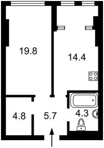 Квартира Победы просп., 11 корпус 2, Киев, Z-754624 - Фото2