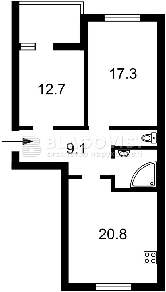 Квартира E-40784, Леси Украинки, 4, Софиевская Борщаговка - Фото 5