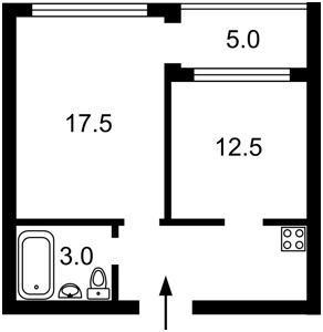 Квартира Выборгская, 28, Киев, A-112119 - Фото2