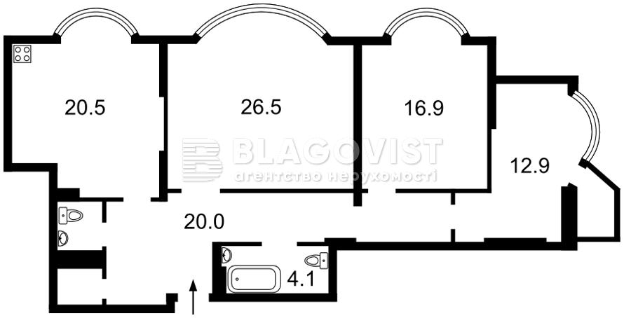 Квартира P-29512, Харьковское шоссе, 182, Киев - Фото 4