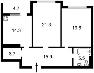 Квартира Драгомирова Михаила, 15а, Киев, R-38319 - Фото2