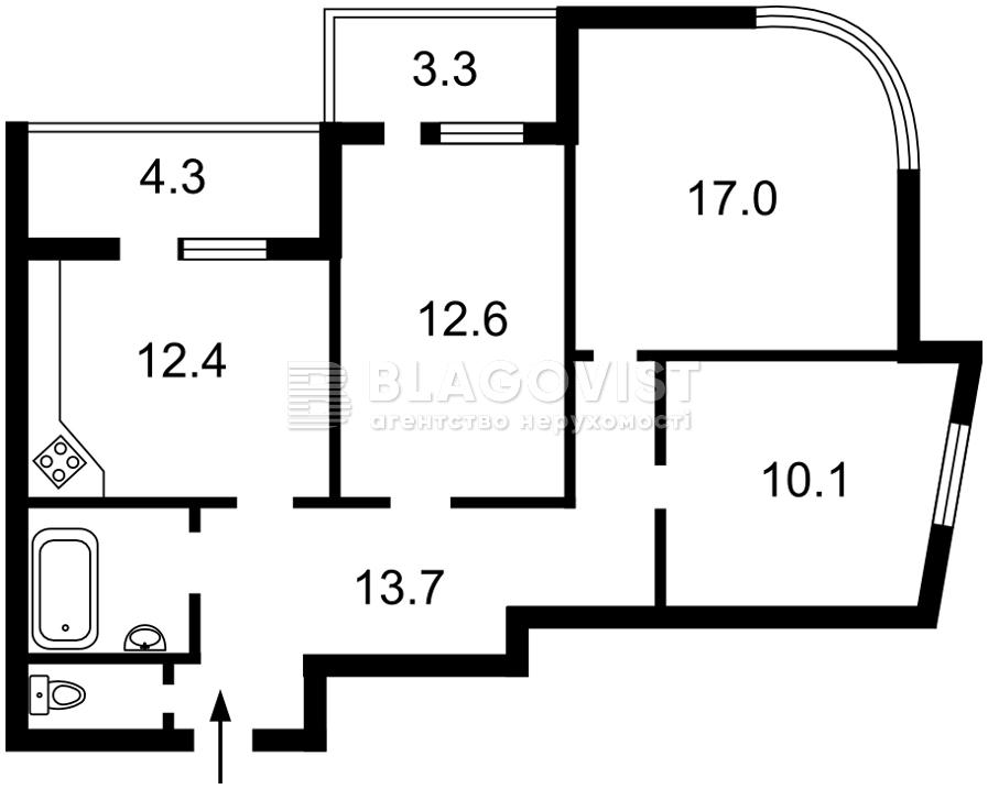 Квартира H-49819, Каховская (Никольская Слободка), 62, Киев - Фото 4