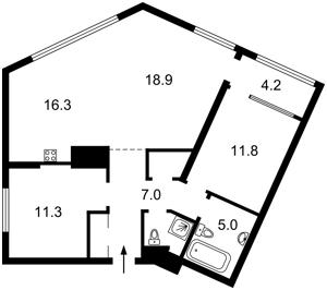 Квартира Липківського Василя (Урицького), 16б, Київ, H-49846 - Фото2