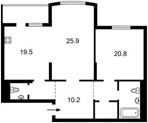 Квартира Голосеевская, 13а, Киев, H-49892 - Фото 2