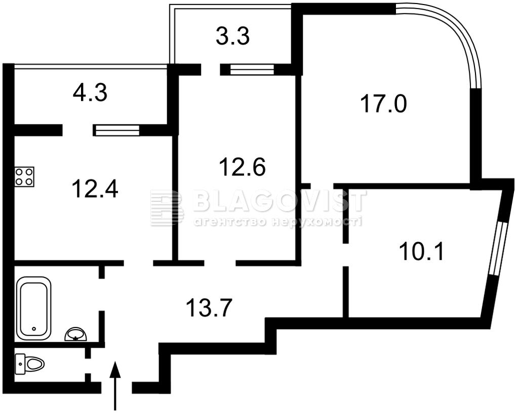 Квартира A-112206, Каховская (Никольская Слободка), 62, Киев - Фото 4