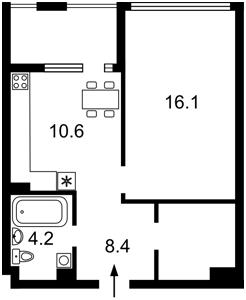 Квартира Соборности просп. (Воссоединения), 17 корпус 2, Киев, Z-768592 - Фото2