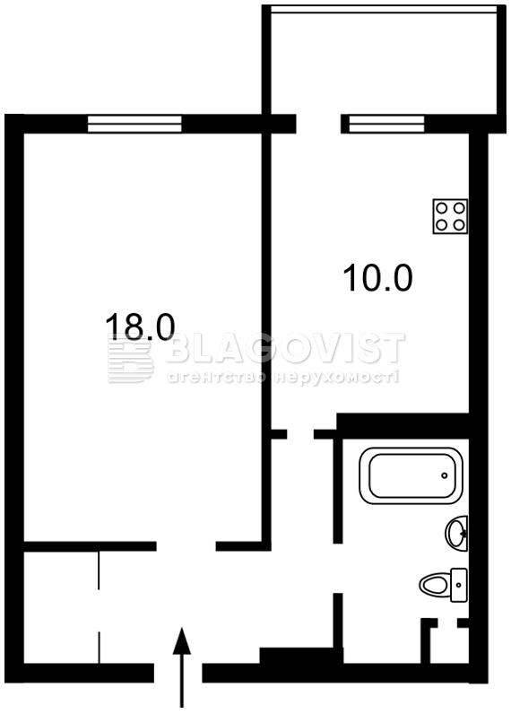 Квартира F-43445, Донца Михаила, 2б, Киев - Фото 5