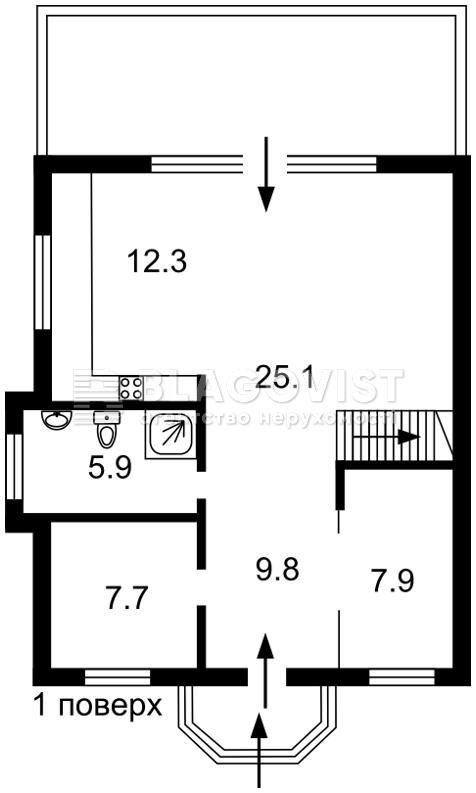 Дом Z-767104, Центральная, Осещина - Фото 1