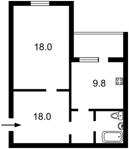 Квартира Поліська, 4 корпус 1, Київ, F-44896 - Фото 2