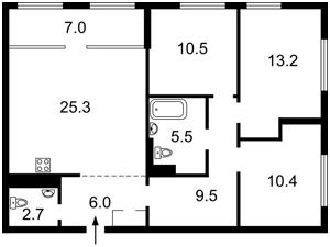 Квартира Правды просп., 13 корпус 3, Киев, Z-768735 - Фото2