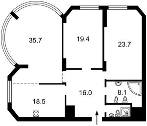Квартира Тимошенка Маршала, 21 корпус 3, Київ, H-50012 - Фото2