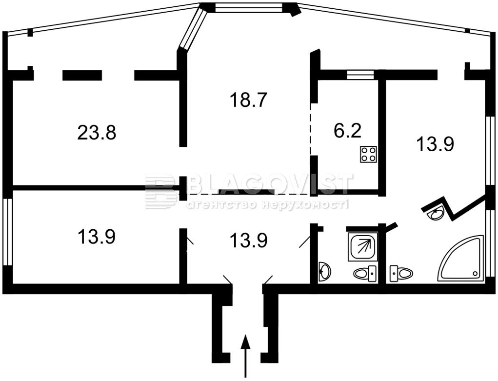Квартира E-40979, Гордиенко Костя пер. (Чекистов пер.), 2а, Киев - Фото 4