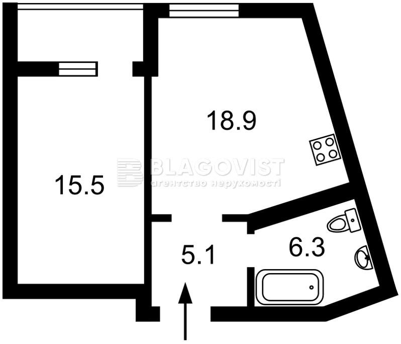 Квартира A-112189, Глубочицкая, 43 корпус 2, Киев - Фото 5